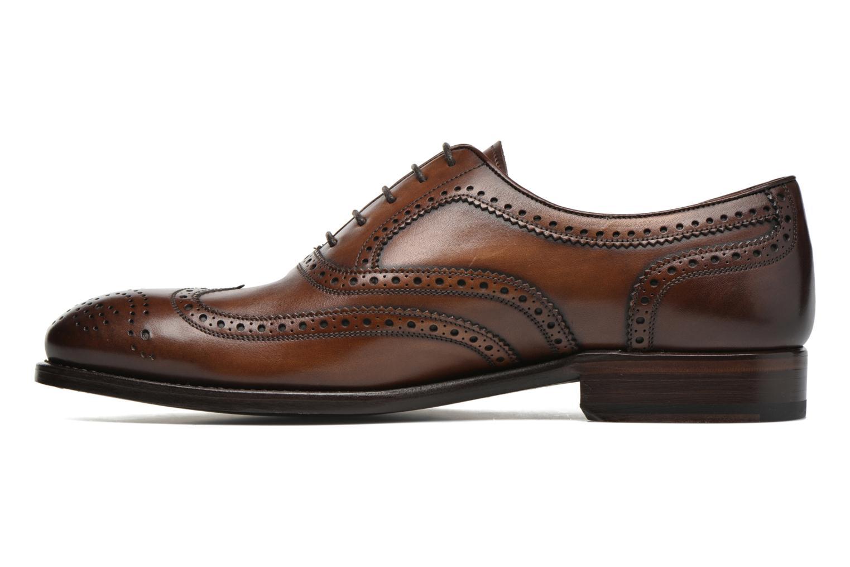 Snörade skor Marvin&Co Luxe Waster Brun bild från framsidan