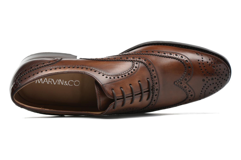 Snörade skor Marvin&Co Luxe Waster Brun bild från vänster sidan