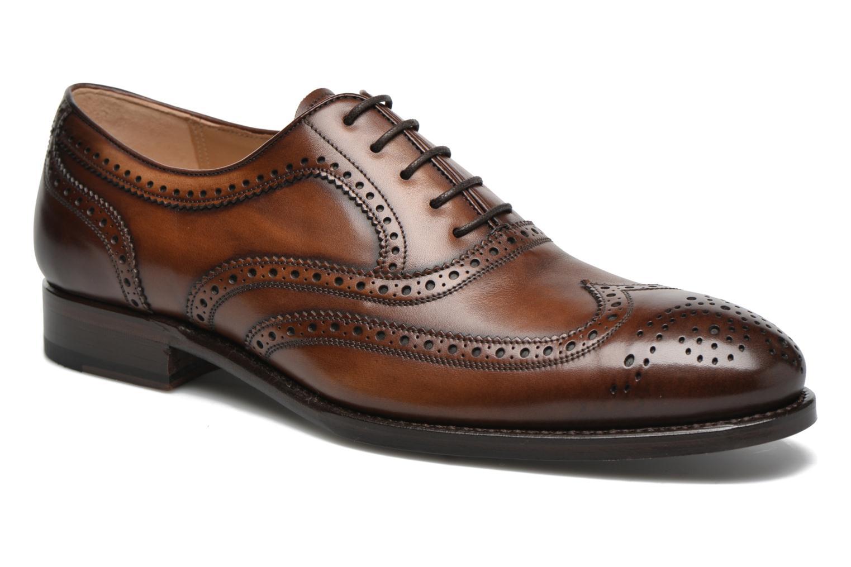 Snörade skor Marvin&Co Luxe Waster Brun detaljerad bild på paret