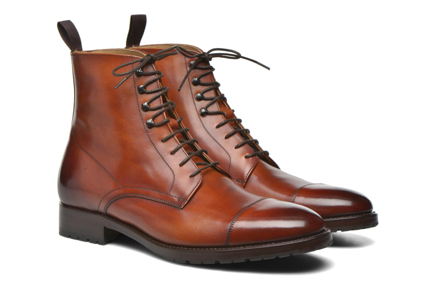 Bottines et boots Marvin&Co Luxe Walfred - Cousu Blake Marron vue 3/4