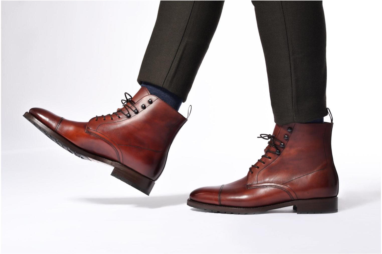 Bottines et boots Marvin&Co Luxe Walfred - Cousu Blake Marron vue bas / vue portée sac