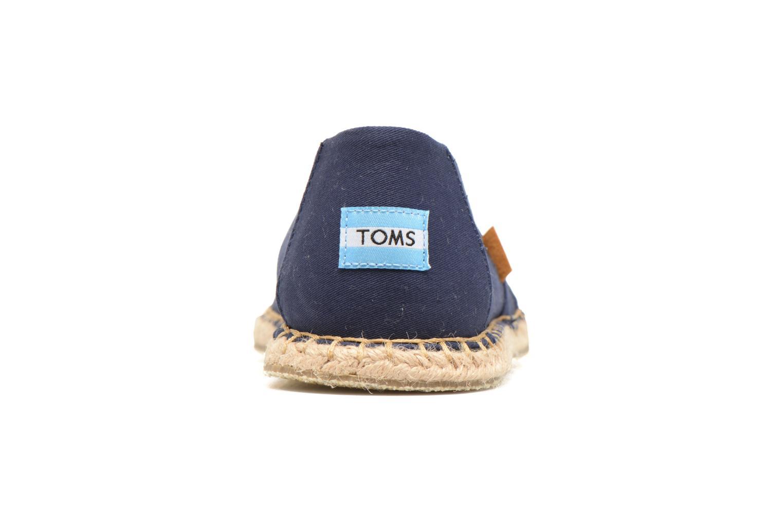 Espadrilles TOMS Seasonal Classics H Bleu vue droite