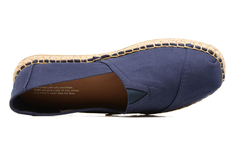 Espadrilles TOMS Seasonal Classics H Bleu vue gauche