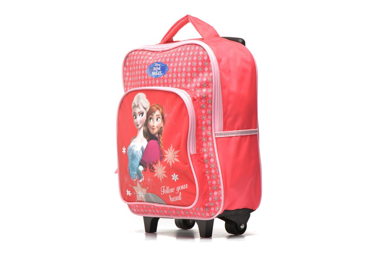 School bags Disney FROZEN CORAL - BACKPACK TROLLEY Pink model view