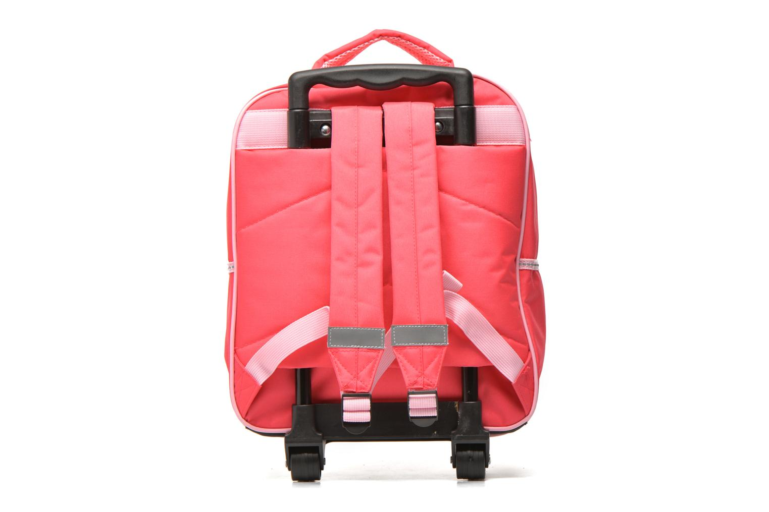 School bags Disney FROZEN CORAL - BACKPACK TROLLEY Pink front view