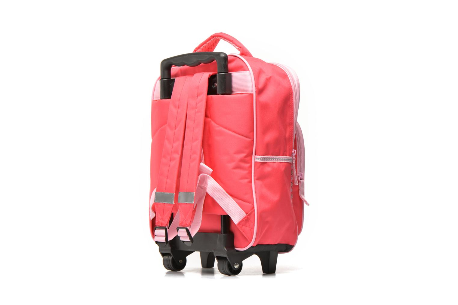 School bags Disney FROZEN CORAL - BACKPACK TROLLEY Pink view from the right