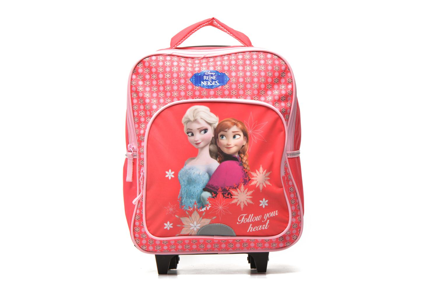 School bags Disney FROZEN CORAL - BACKPACK TROLLEY Pink detailed view/ Pair view
