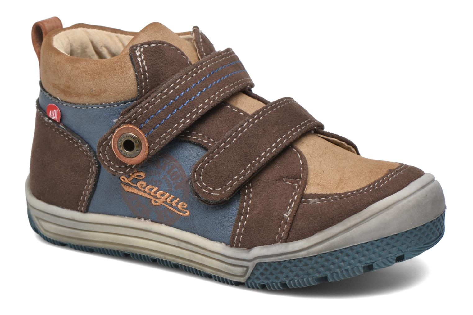 Velcro shoes NA! Abes Blue detailed view/ Pair view