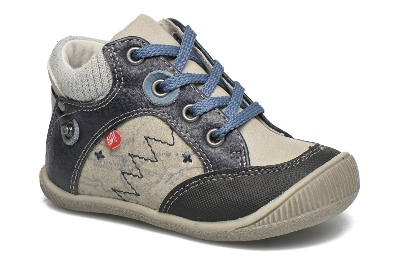 Bottines et boots NA! Abricot Bleu vue détail/paire