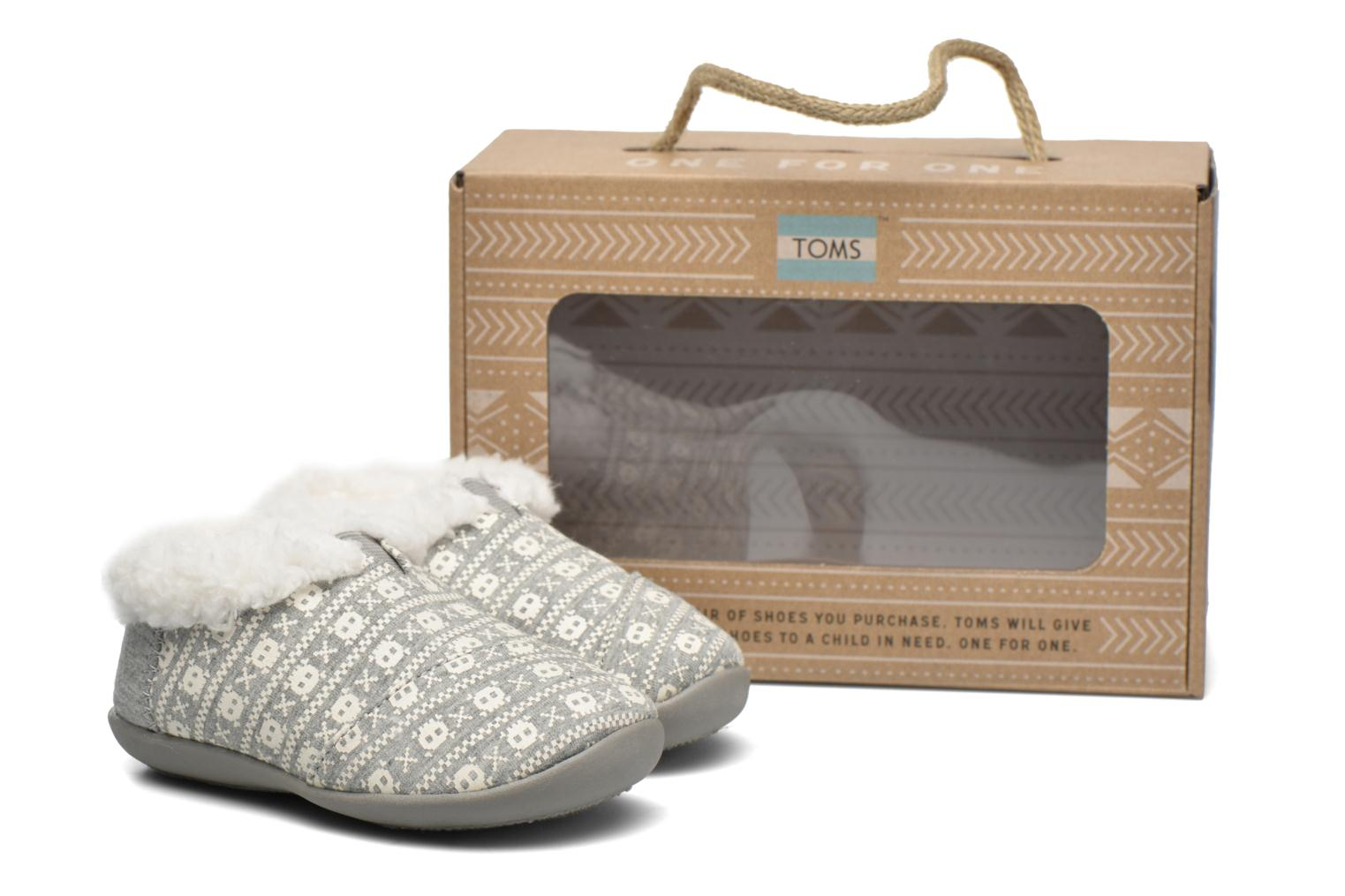 Chaussons TOMS House Slipper Gris vue 3/4