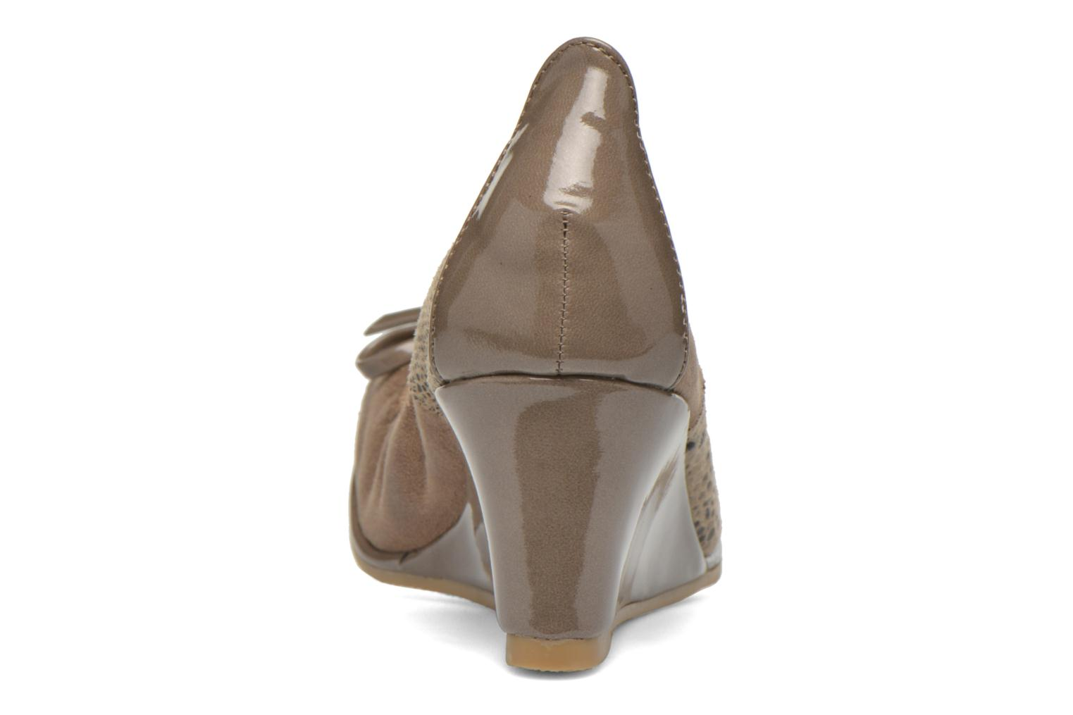 High heels Les P'tites Bombes Amael Beige view from the right