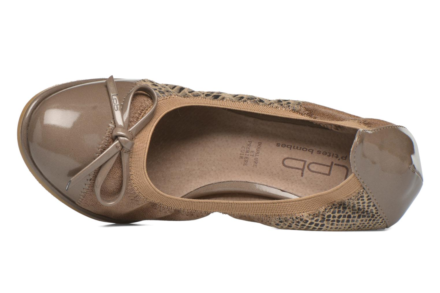 High heels Les P'tites Bombes Amael Beige view from the left