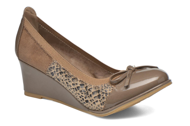 High heels Les P'tites Bombes Amael Beige detailed view/ Pair view
