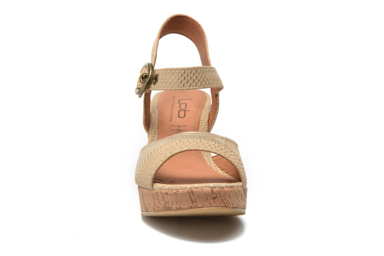 Sandales et nu-pieds Les P'tites Bombes Eglantine Or et bronze vue portées chaussures