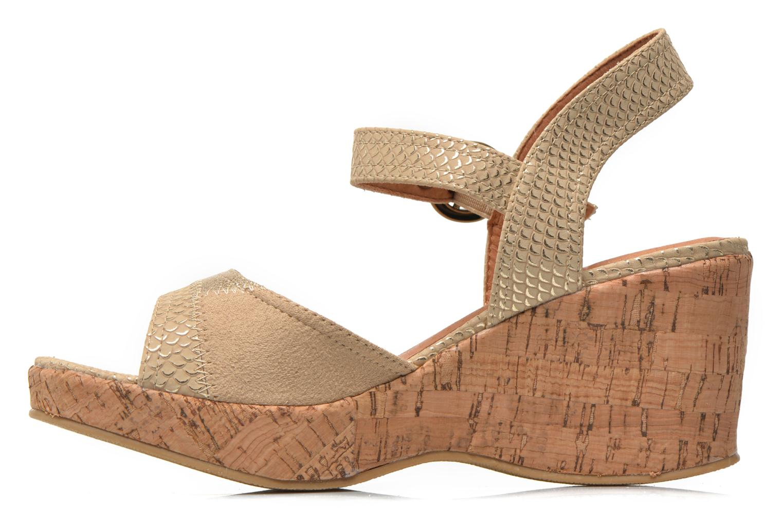 Sandales et nu-pieds Les P'tites Bombes Eglantine Or et bronze vue face