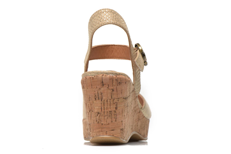 Sandales et nu-pieds Les P'tites Bombes Eglantine Or et bronze vue droite