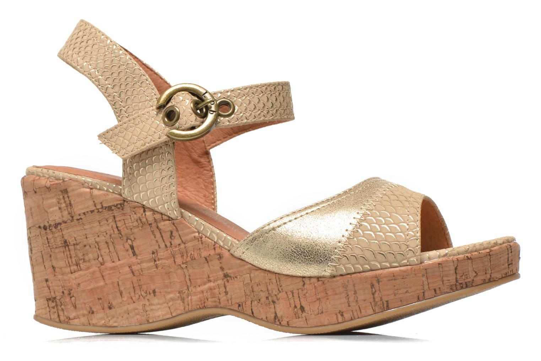 Sandales et nu-pieds Les P'tites Bombes Eglantine Or et bronze vue derrière