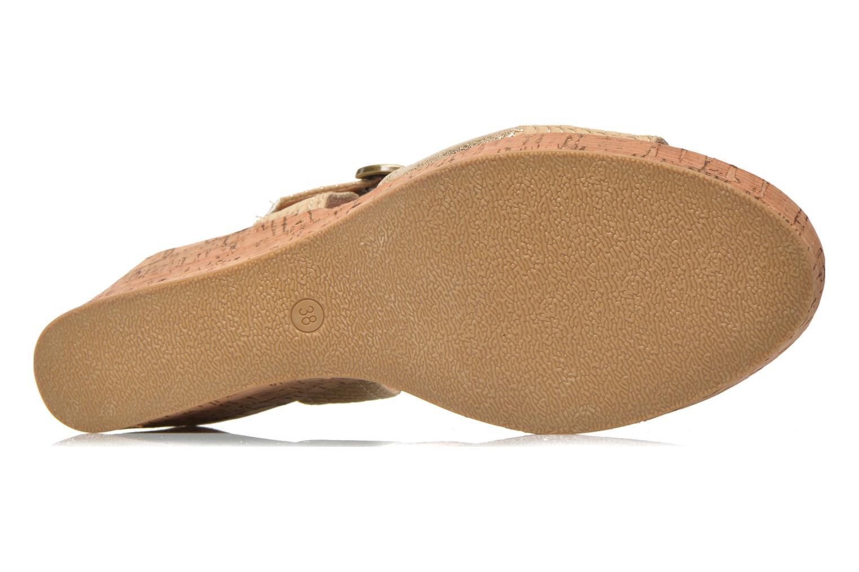 Sandales et nu-pieds Les P'tites Bombes Eglantine Or et bronze vue haut