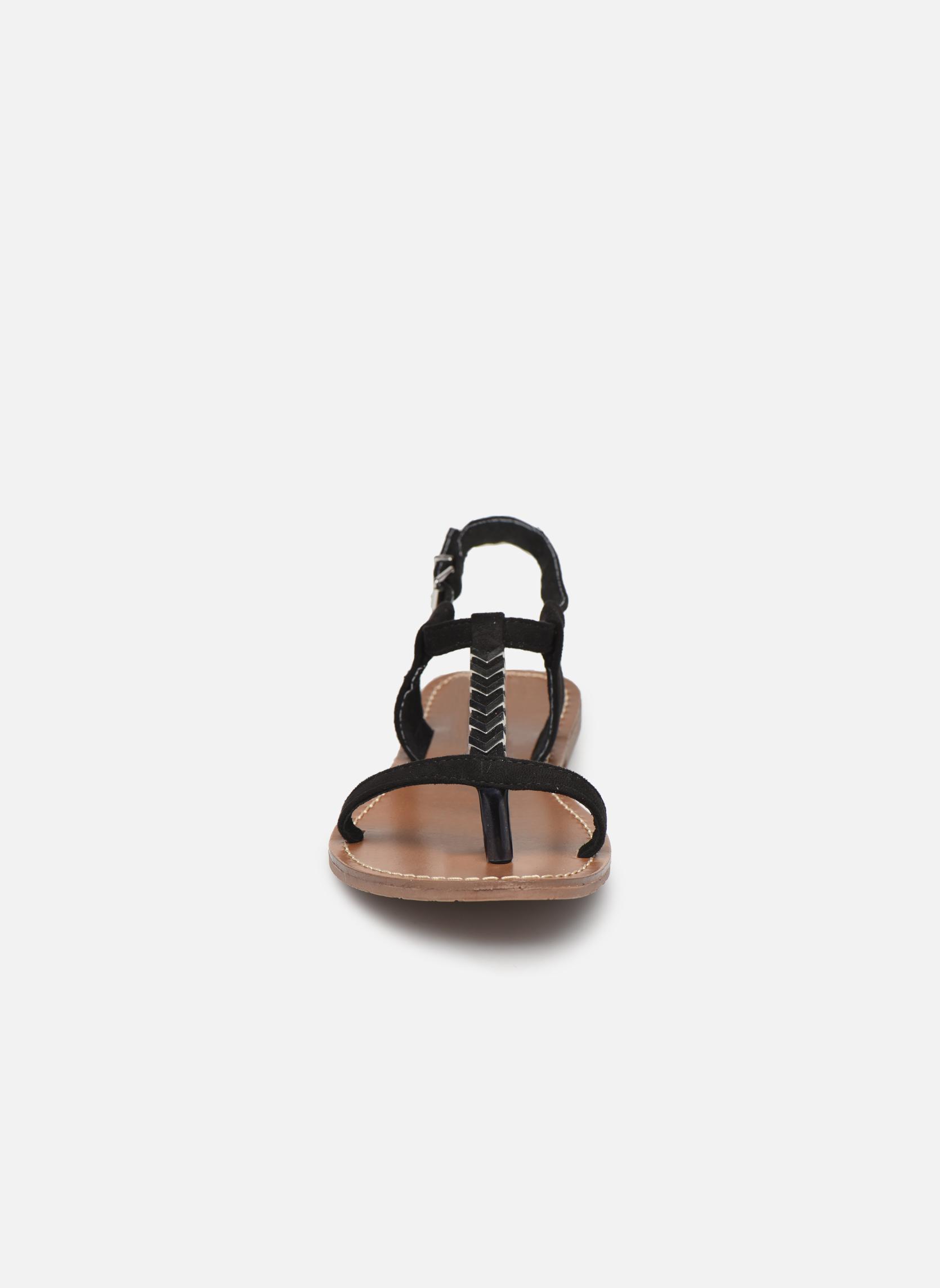 Sandales et nu-pieds Les P'tites Bombes Petunia Noir vue portées chaussures