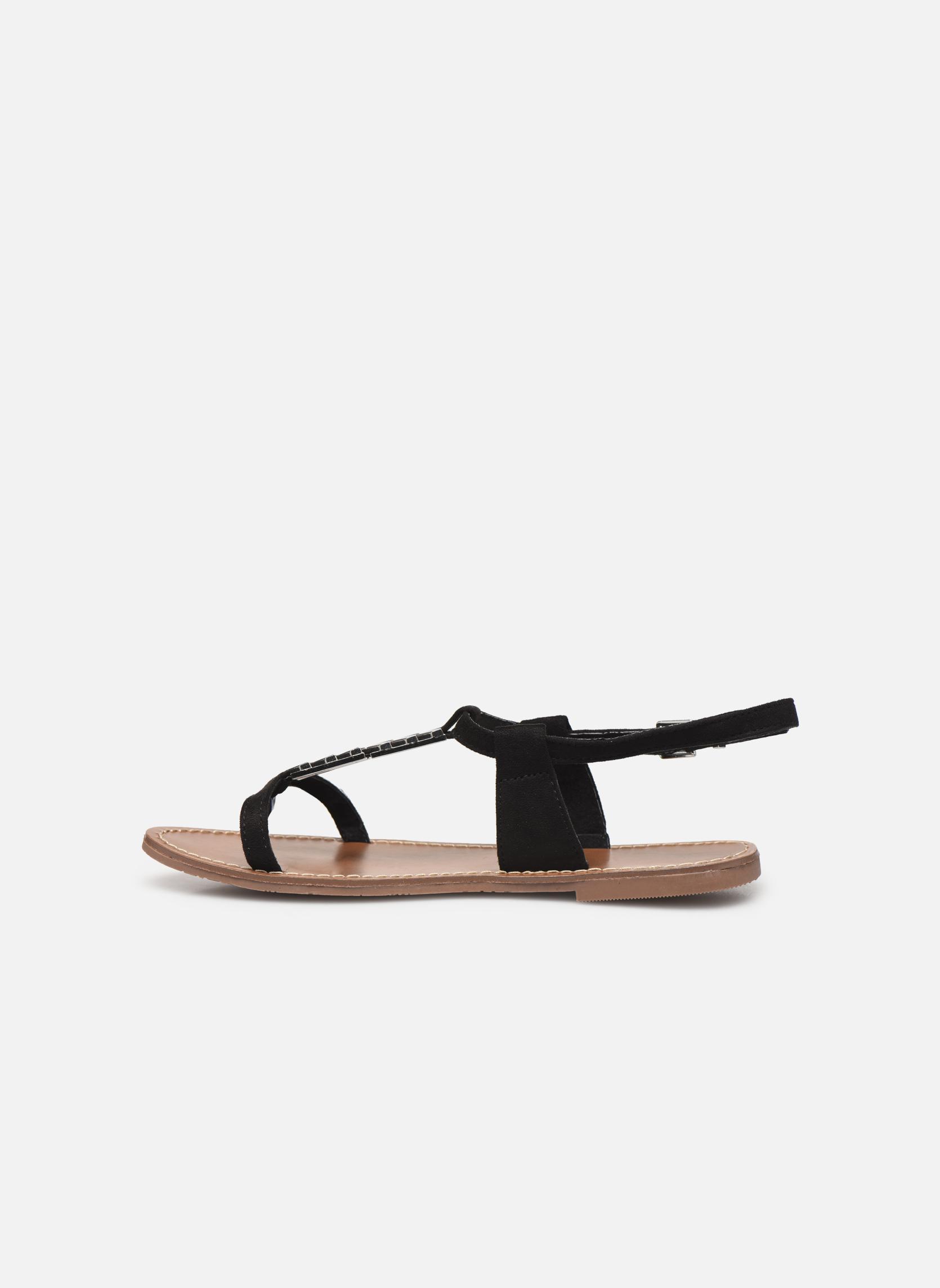 Sandales et nu-pieds Les P'tites Bombes Petunia Noir vue face