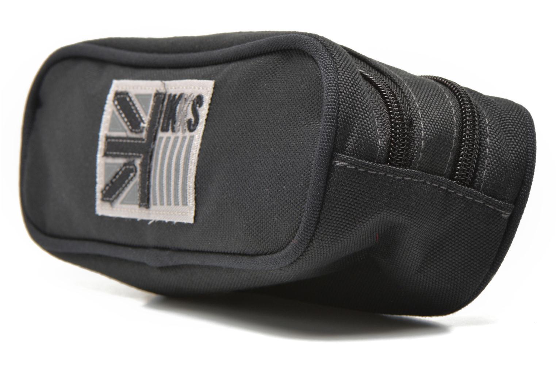 Scolaire IKKS Trousse double UK Gris vue portées chaussures