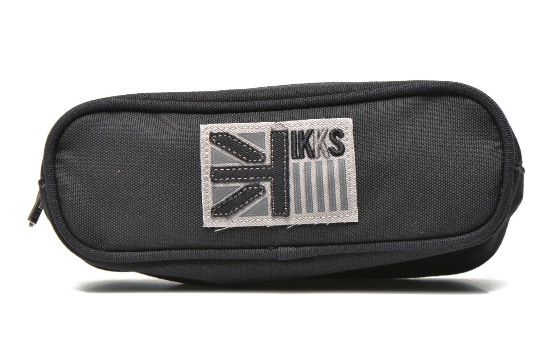 Scolaire IKKS Trousse double UK Gris vue détail/paire
