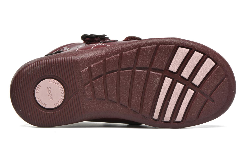 Chaussures à scratch Start Rite Lily Bordeaux vue haut