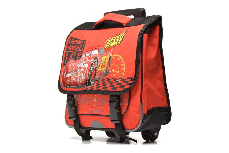 Per la scuola Disney Cartable 38cm Trolley Cars Rosso modello indossato