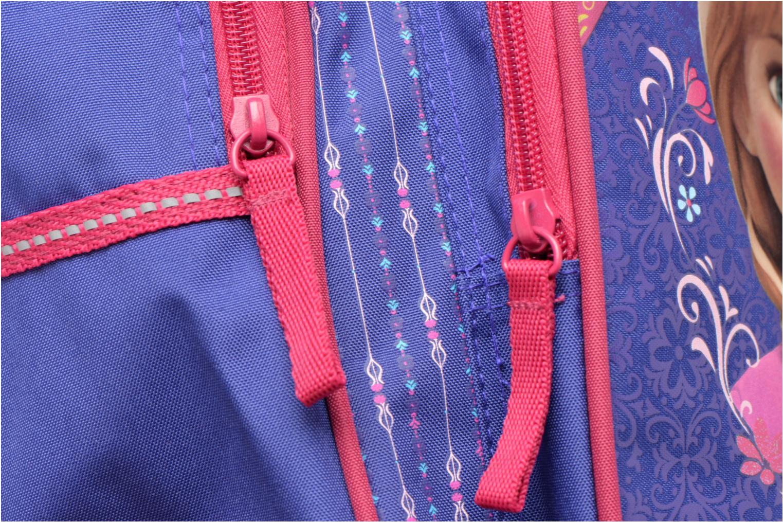 Rucksäcke Disney Sac à dos Trolley Reine des neiges blau ansicht von links