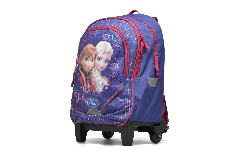 Zaini Disney Sac à dos Trolley Reine des neiges Viola modello indossato