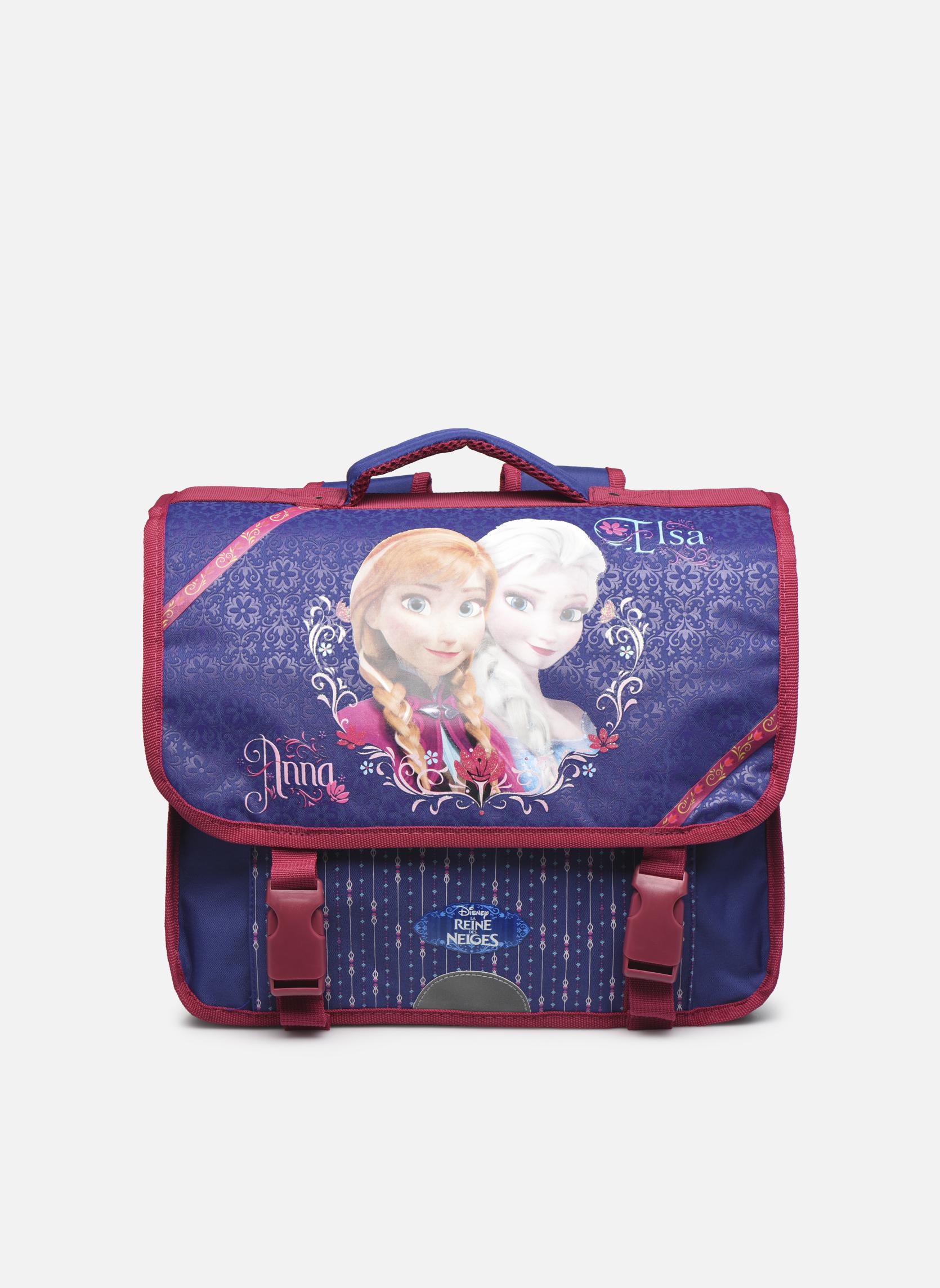 Scolaire Disney Cartable 38cm Reine des neiges Violet vue détail/paire