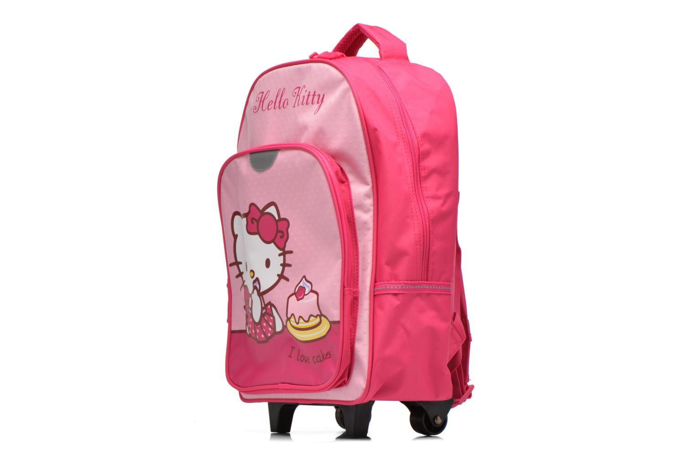 Mochilas Hello Kitty Sac à dos Trolley Hello Kitty Rosa vista del modelo