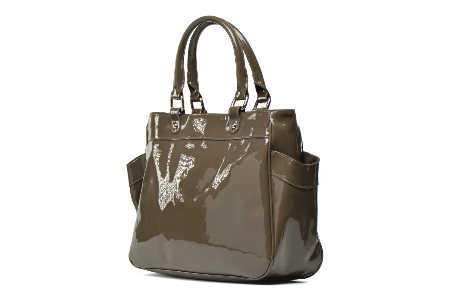 Handbags Les P'tites Bombes Sac Vernis Brown view from the right