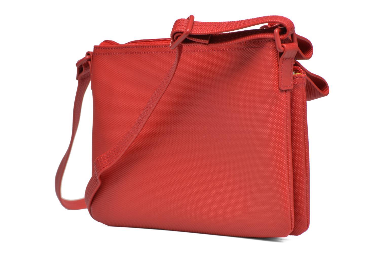Handtaschen Lacoste W CLASSIC Crossover rot ansicht von rechts