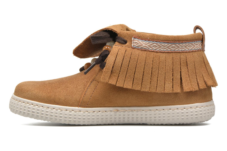 Sneakers Victoria Botin Flecos Serraje Marrone immagine frontale