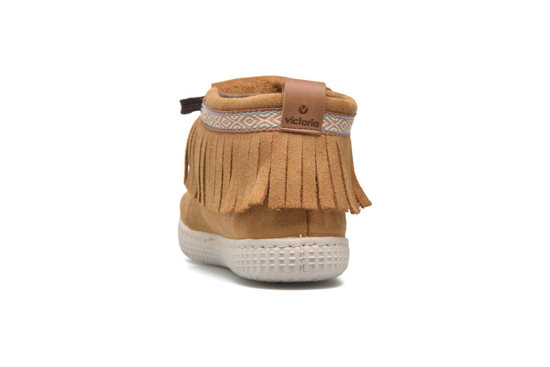 Sneakers Victoria Botin Flecos Serraje Marrone immagine destra