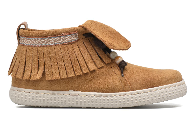 Sneakers Victoria Botin Flecos Serraje Marrone immagine posteriore