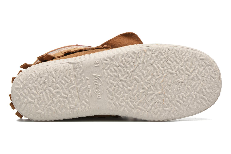 Sneakers Victoria Botin Flecos Serraje Marrone immagine dall'alto