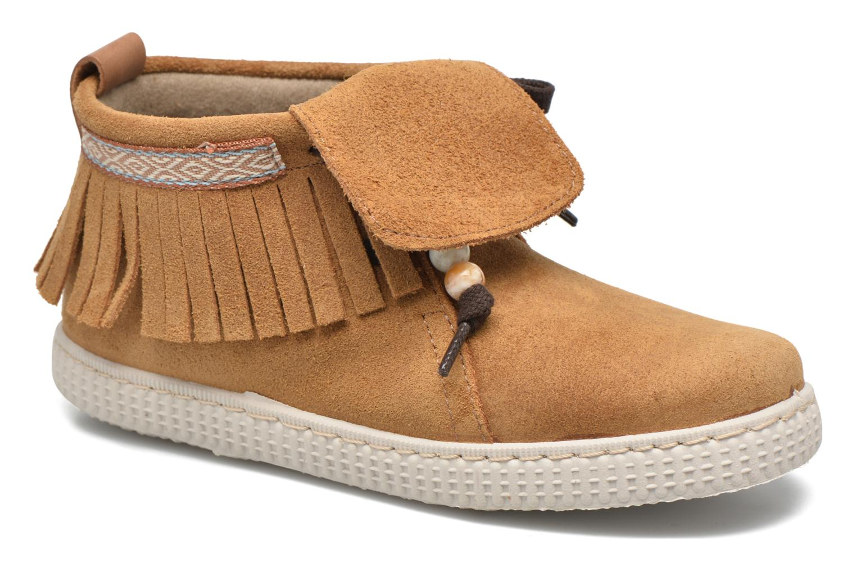 Sneaker Victoria Botin Flecos Serraje braun detaillierte ansicht/modell