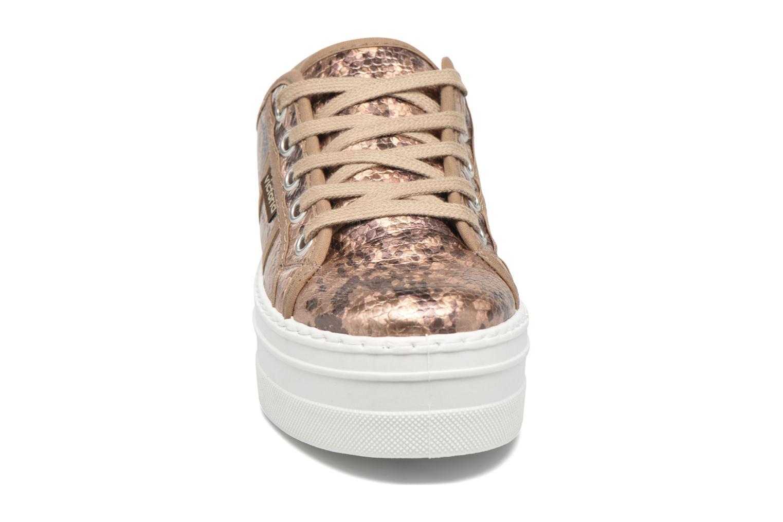 Baskets Victoria Basket Serpiente Fantasia Or et bronze vue portées chaussures