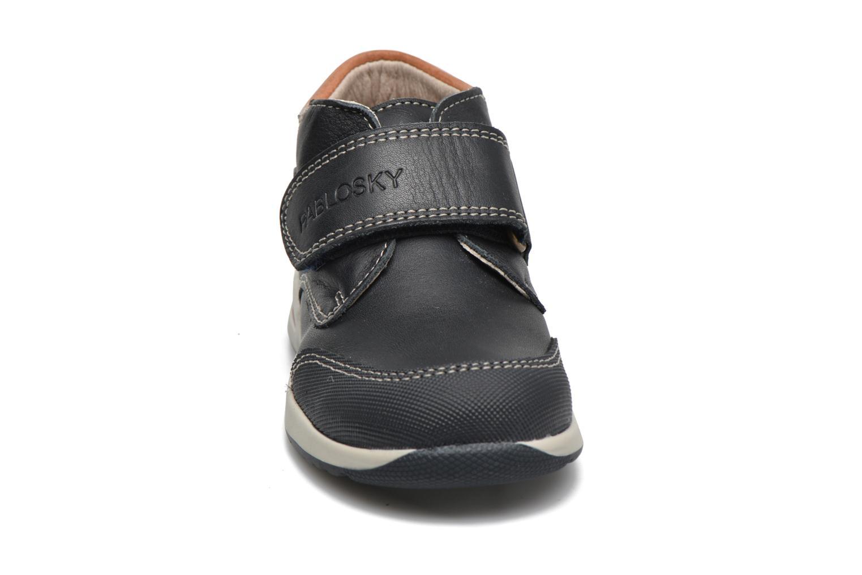Chaussures à scratch Pablosky Antonio Bleu vue portées chaussures