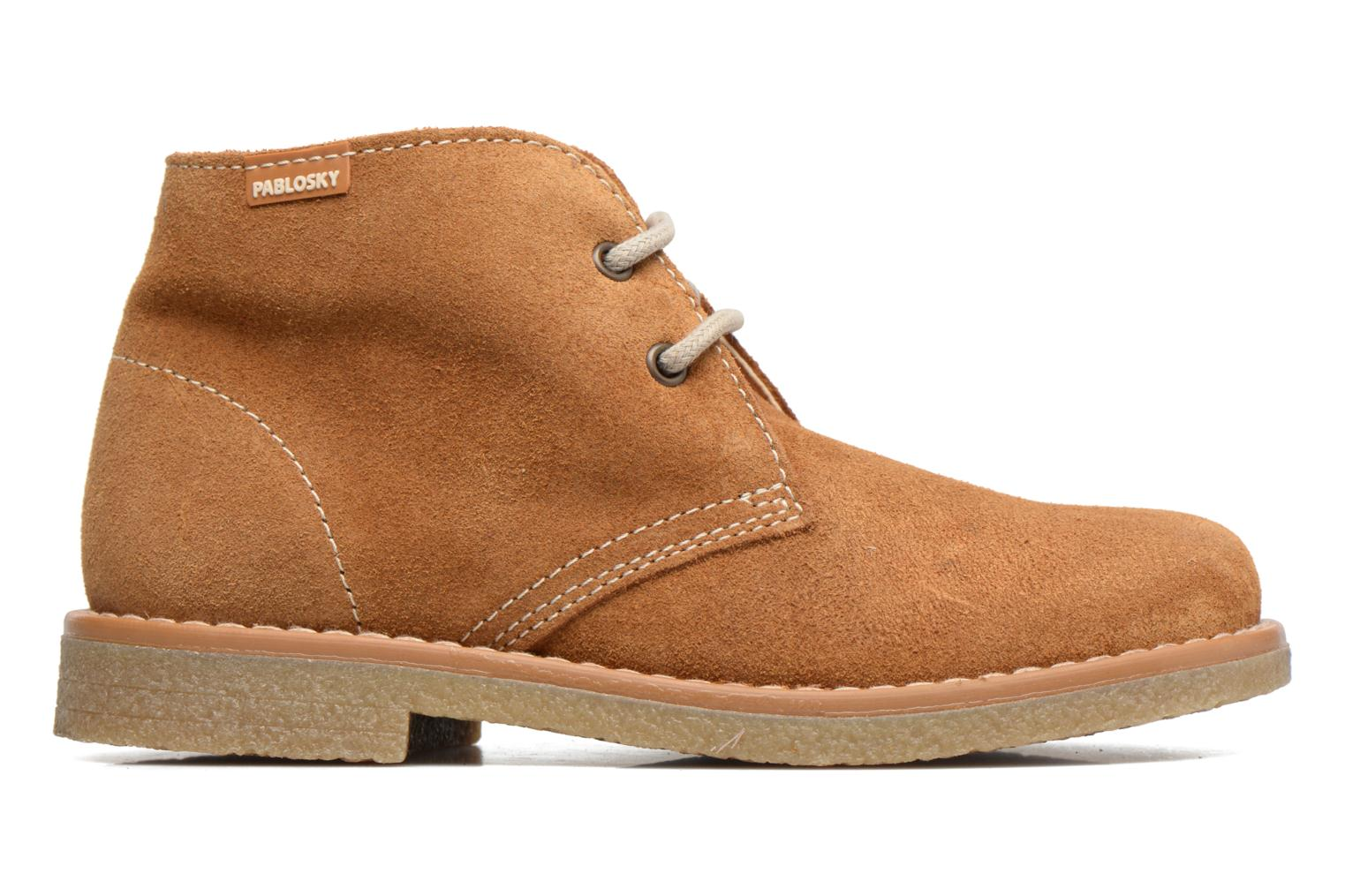 Lace-up shoes Pablosky Camilo Brown back view