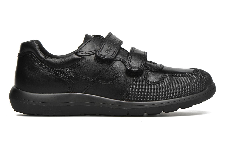 Zapatos con velcro Pablosky Huberto Negro vistra trasera