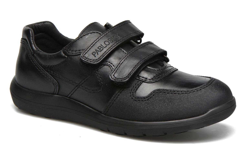 Zapatos con velcro Pablosky Huberto Negro vista de detalle / par