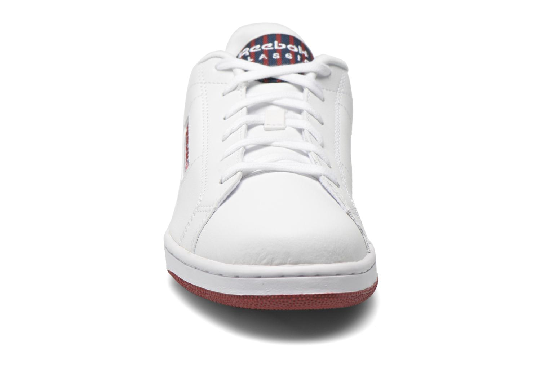 Sneaker Reebok Npc Ii Stripe weiß schuhe getragen