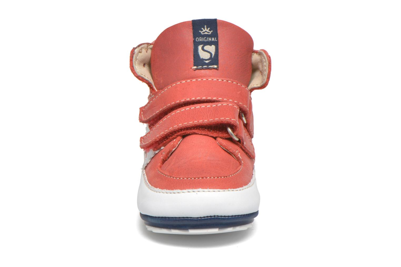 Chaussures à scratch Shoesme Simon Rouge vue portées chaussures
