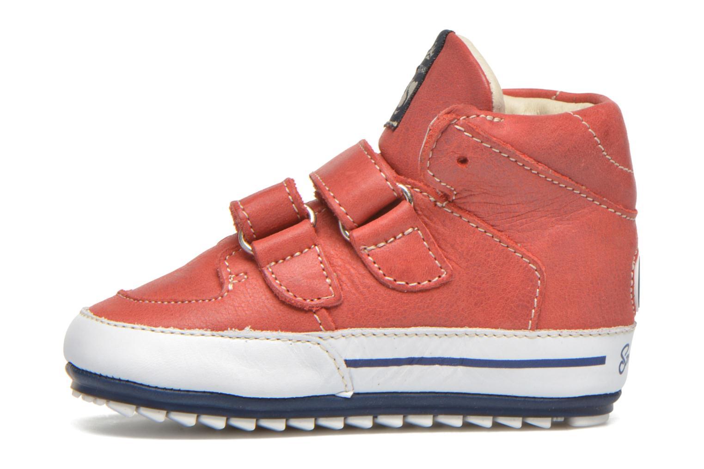 Chaussures à scratch Shoesme Simon Rouge vue face