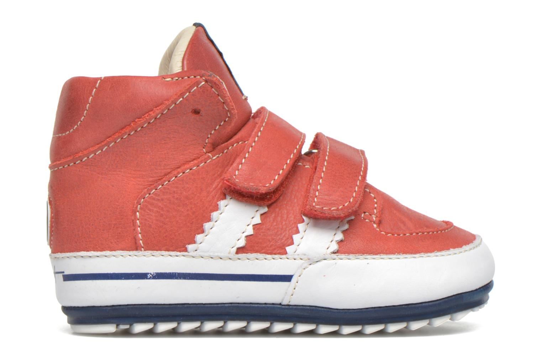 Chaussures à scratch Shoesme Simon Rouge vue derrière
