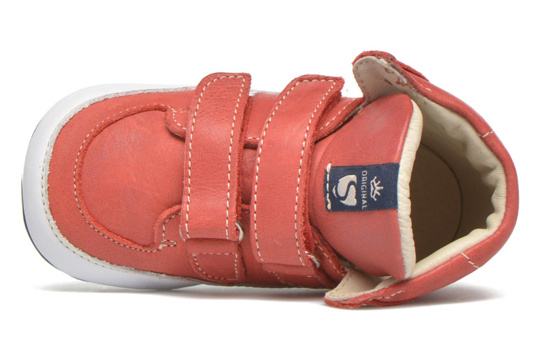 Chaussures à scratch Shoesme Simon Rouge vue gauche