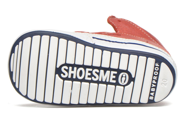 Chaussures à scratch Shoesme Simon Rouge vue haut